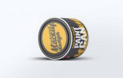 时尚高端的高品质油漆桶包装设计paint-can-mock-up