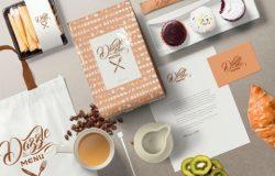 时尚高端优雅的咖啡主题包装设计coffee-themed-brand-identity