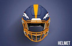 橄榄球头盔智能高分辨率Football Helmet Mockup