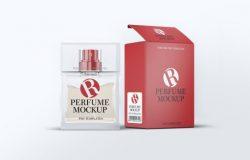 高品质的时尚高端逼真质感香水化妆品perfume-mock