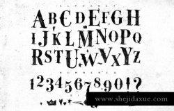 复古风格的古哥特式字体 Gamble Font