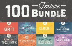 100款复古质感纹理设计素材100 Texture Bundle #860369