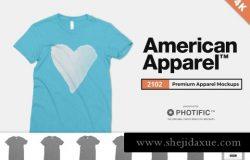 典型的美式T恤样机 American Apparel