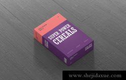 高分辨率和易于定制的包装盒子cereals-box-mockup