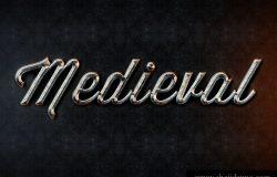 金属效果文字特效Medieval Text Style