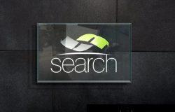 立体的车企企业logo设计样机(PSD)