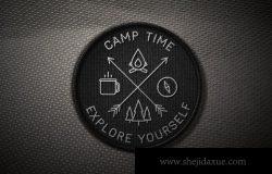 复古户外徽标LOGO创作元素合集包 Outdoor Line Badges Creator