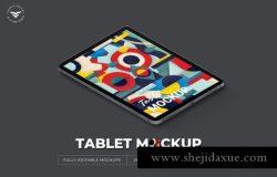 个性的平板电脑透视角度tablet-mockups