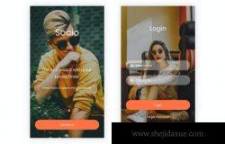 7社交媒体功能的移动 App UI Kit