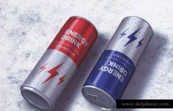 能量饮料罐头外观设计样机 Energy Drink Can Mockup