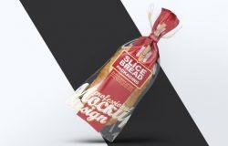 蛋糕店常用面包片真空包装Slice Bread Packaging Mock-Up