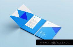 文件夹品牌VI设计提案PSD样机模板素材 Folder mockup