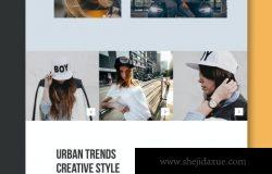 54时尚高端专业的高品质服装电子商务网站UI设计模板-AI,EPS,PSD,XD