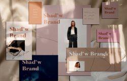影子品牌纸张模型 Shadow Brand – Paper Mockups