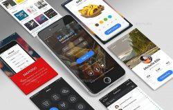 三维手机UI界面展示样机模型
