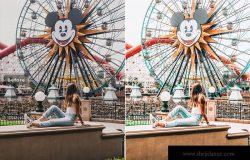 迪士尼乐园游玩摄影必备LR调色滤镜合集