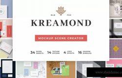 功能强大的场景样机生成器套装 Kreamond – Mockup Scene Creator