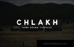 手绘老式复古英文字体 Chlakh Free Retro Typeface