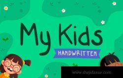 俏皮可爱的英文字体 My Kids Handwritten Font