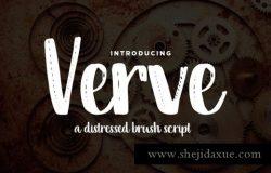 适合花卉的字体 Verve Distressed