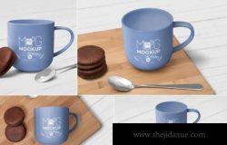 马克杯陶瓷杯水杯咖啡杯营养早餐场景展示