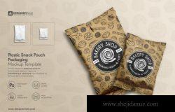 袋装零食饼干面包枕头式食品包装袋塑料袋品牌形象展示
