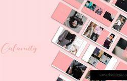 粉色系时尚服饰行业适用PPT模板 Calmity Pink PPt