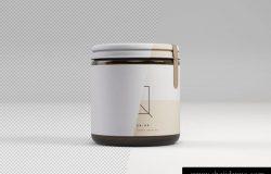 高品质的高端逼真正视图瓶子罐子样机展示模型mockups