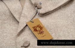 时尚高端的高品质质感的服装吊牌标签价签