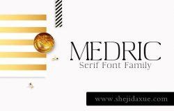 漂亮的衬线字体 Medric Serif 4 Font Family