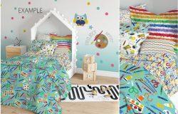 儿童织物设计房间样机 KIDS Interior Fabric Mockup