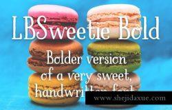 有趣甜美的字体 LBSweetie Bold
