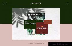 极简主义企业品牌设计展示样机模板 Pental No.2 – Minimalist Stationery Mockup