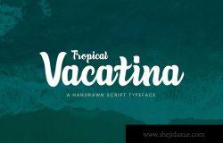 英文粗体装饰设计画笔笔刷书法字体下载 Tropical Vacatina – Bold Script Font
