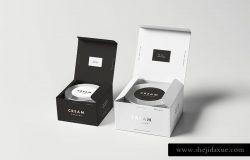 高品质的时尚高端逼真质感的高级化妆品包装设计VI样机展示模型mockups