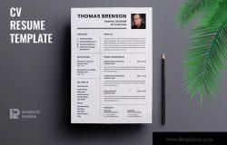 极简版式设计风格设计师简历模板