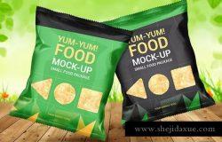 零食食品包装小袋子样机模板 Food Bag Mock-Ups