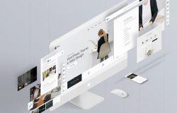 UI网站页面样机