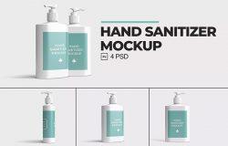 挤压式洗手液塑料瓶外包装品牌样机