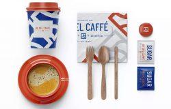 咖啡品牌效果图预览组合样机模板包
