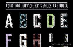 100+黑板画粉笔字文本/标题图层样式 Premium Chalk Text Styles