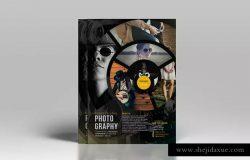 圆环拼凑风格摄影主题海报设计模板素材 Photography Flyer Template