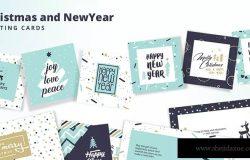 圣诞节&新年快乐贺卡设计模板合集 Christmas and New Year's Greeting Cards Collection