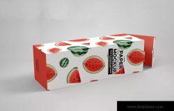 长方体产品包装盒设计效果图样机 Tall Box Tuck & Tongue Lock Mockup