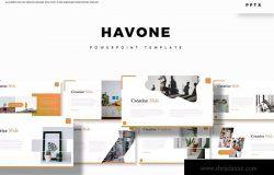 投标公司简介PPT幻灯片模板下载 Havone – Powerpoint Template