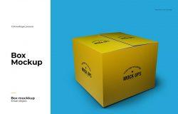 礼品包装盒效果图样机模板