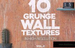 划痕破损墙体老墙背景纹理v2 Grunge Wall Textures x10 vol2