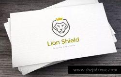 狮子盾牌电子竞技徽标设计模板 Lion Shield Logo Template