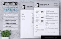 律师/律师助理职业应聘简历模板 Corporate Lawyer CV Resume