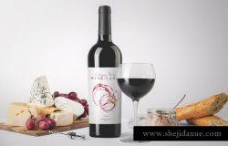 葡萄酒酒瓶样机模板